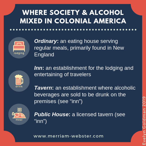 Where society & alcohol mixed in Colonial America