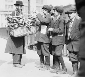 Boys Buying Bagels