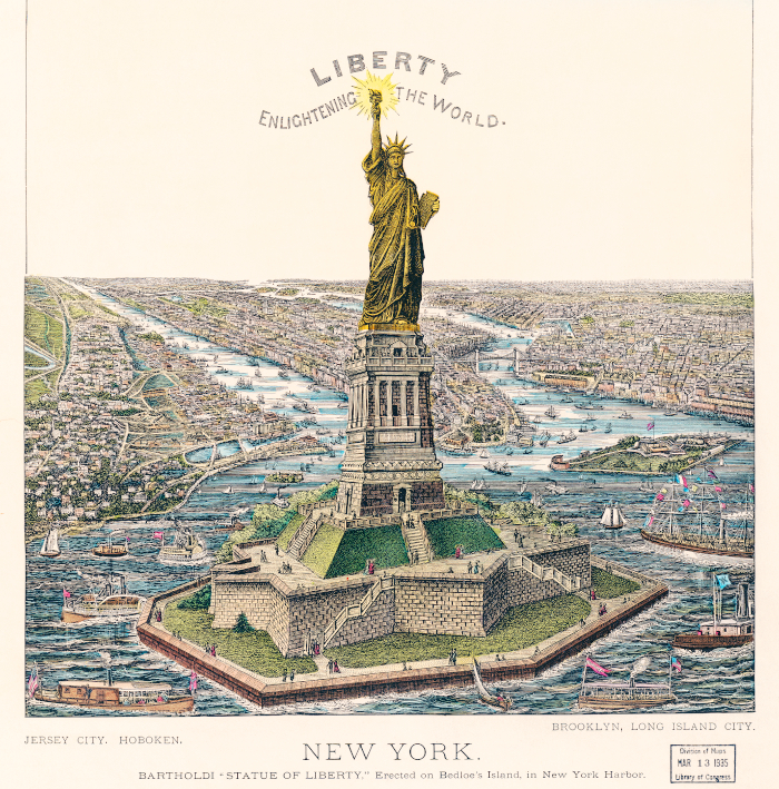 Statue of Liberty on Bedloe's Island