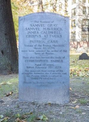 Gravestone at Granary Burying Ground