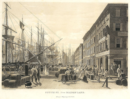 Old print of the view from Maiden Lane