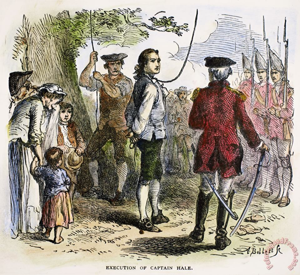 The execution of Nathan Hale.