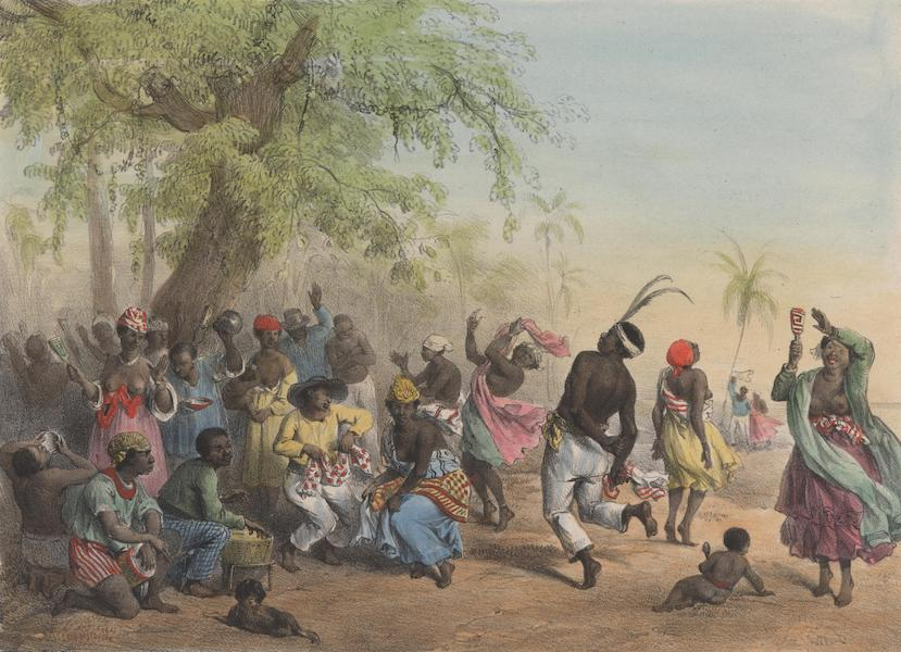 Slaves dance and play instruments on Dutch colonized Suriname.