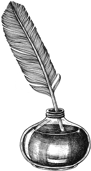 Quill in an ink pot