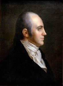Side profile portrait of Aaron Burr in 1802.